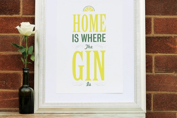 Print Home is where the gin is